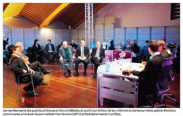 Débart sur NRTV. Photo : La Côte