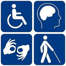 logo-de-quatre-formes-de-handicaps-5352701a